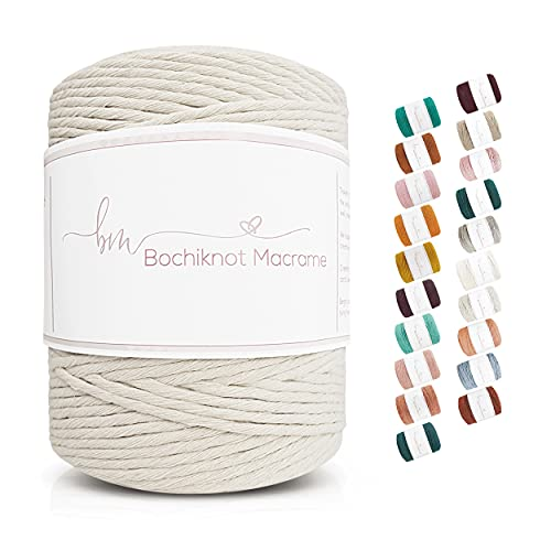 Bochiknot Macrame   Single-Strand Twisted Cotton Cord 5mm x 150yds   Twisted...