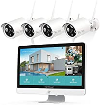 HeimVision 3MP Wireless Security Camera System with 15.6 Inch IPS Monitor, 8CH 2K NVR 4Pcs Outdoor WiFi Surveillance Cameras with Night Vision, Waterproof, Motion Detection, No Hard Drive, Assure K31