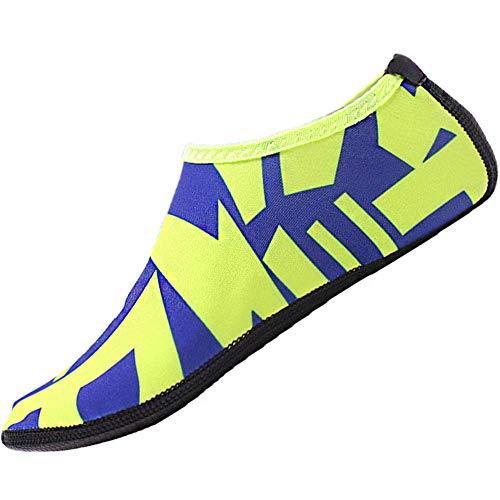 Unnow – Zapatillas de natación para mujer, zapatillas de playa, zapatos de agua, zapatos de agua, zapatos de natación, zapatos de natación para deportes acuáticos, playa, piscina, surf, yoga, color Verde, talla 35/36 EU