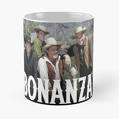 Western-Kaffeetasse Bonanza Country Cowboy TV Texas Wyoming Montana Eat Food Bite John Best 325 ml