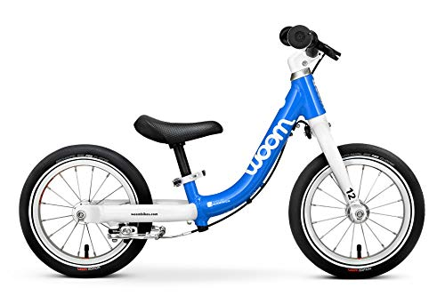 """woom 1 Balance Bike 12"""", Ages 18 Months to 3.5 Years, Blue"""