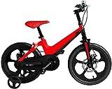 YYhkeby Bicicletas 14 Pulgadas for niños, Marco de aleación de magnesio de Bicicletas for niños con el Entrenamiento de Regalo de la Rueda de 3-5 años de Edad niños y niñas (Color: Amarillo) Jialele