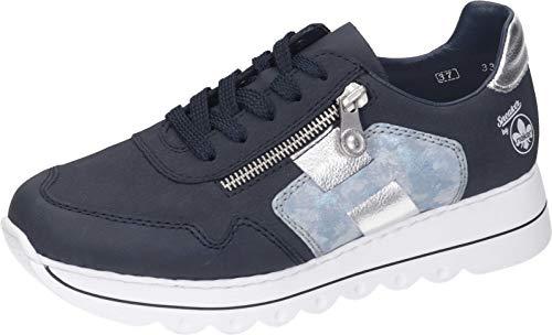 Rieker Damen L3312 Sneaker, blau,39 EU