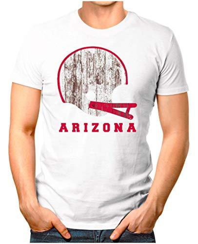 OM3® - Arizona-Helm - T-Shirt | Herren | American Football Shirt | L, Weiß