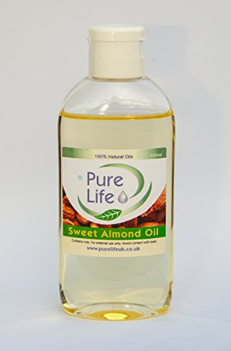 Sweet Almond Oil - Pure & Natural Massage Carrier Oil Cold Pressed (100ml)