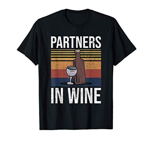 Partners In Wine Amigo Amante del vino Regalo Camiseta