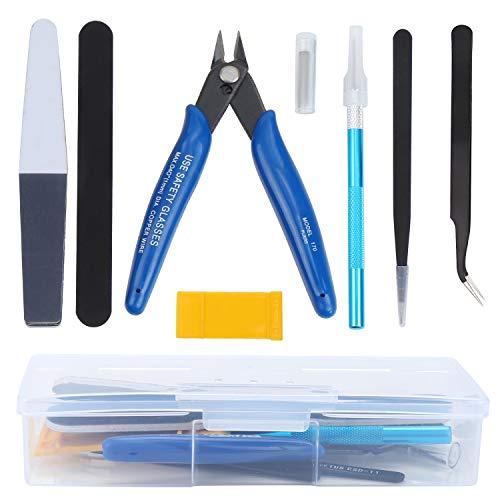 WiMas Juego de herramientas de modelo Gundam, 9 unidades, para manualidades de construcción básica, para reparación y fijación