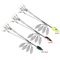 Zetiling 5 Arms Alabama Umbrella Rigs with Barrel Swivels Fishing Lures Bait Rigs Fishing Tackle for Bass 3 Colors(#2)