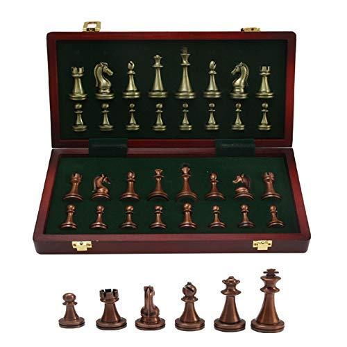 Internationales Schachspiel, Magnetisches Schachbrettspiel aus Holz Faltbares...