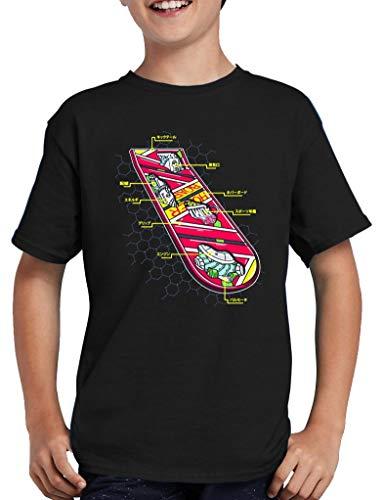 pas cher un bon T-shirt de skateboard pour enfants Hoverboard-Noir-98-104cm