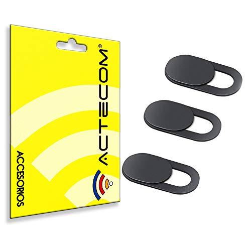 actecom 3pzs Tapas Cubierta Webcam, Webcam Cover Slider Diseño Ultra Fino Camera Cover Tapa Webcam para Todo Tipo de Ordenadores Portátiles (3 Unidades)