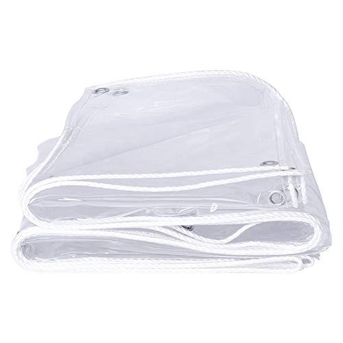 La lona transparente resistente impermeable de la lona LWXTY se utiliza para proteger artículos y asegurar la exposición a la luz. lona de vidrio suave del PVC de la lona del ojal, 2m* 4m/6.5ft* 13ft