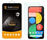 (2 Pack) Supershieldz for Google Pixel 5 Tempered Glass Screen Protector, 0.33mm, Anti Scratch, Bubble Free