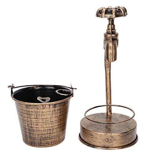 FEBT Cenicero para Fumar, cenicero Vintage ceniceros para cigarros de Hierro para Interiores, para Mesa, para el hogar, para la Oficina