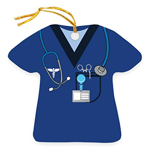 ChalkTalkSPORTS Profession Ornament | Medical Services | Nurse Scrubs | Navy
