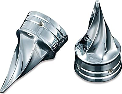 Kuryakyn 1219 Motorcycle Accent Accessory: Front End Twisted Axle Caps for 2002-19 Harley-Davidson Motorcycles, Chrome, 1 Pair , black by Kuryakyn