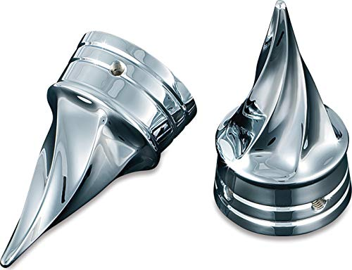 Kuryakyn 1217 Motorcycle Accent Accessory: Front End Twisted Axle Caps for 1980-2006 Harley-Davidson Motorcycles, Chrome, 1 Pair