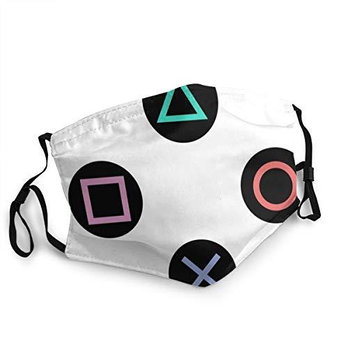Bequeme Gesichtsmaske zum Spielen mit Playstation-Controller-Tasten, sonnenfest, modisches Bandana, Kopfbedeckung zum Angeln