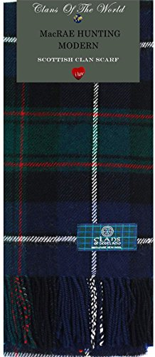 I Luv Ltd MacRae Hunting Modern Tartan Clan Scarf 100% Soft Lambswool