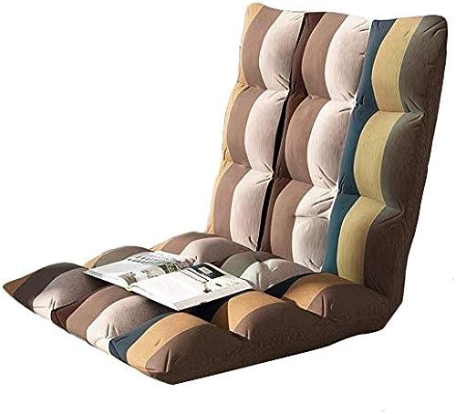 Qing MEI- Lazy Couch Einfacher Faltbarer Bodenstuhl 6 Verstellbarer Rückenlehnenstuhl Lazy Computerstuhl