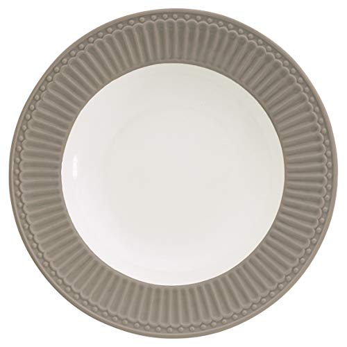 GreenGate- Pasta Teller/Deep Plate - Alice warm Grey D: ca 21 cm