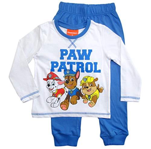 PAW PATROL Schlafanzug Jungen Pyjama Schlafanzug Lang (Marine/Rot/Grau, 128)