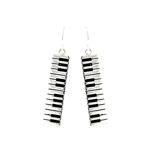 Silver Piano/Organ Keyboard Drop Earrings