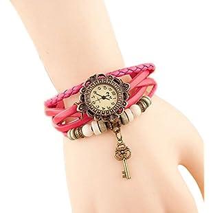 LAAT Elegant Leather Weave Wrap Bracelet Watch Vintage Women Wrist Watch Charming Bracelet (6)