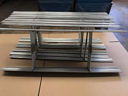 100 Metal Stake 10 x 24 inch x 9 Gauges Galvanized Wire Signs Stake use with Corrugated Signs 4mm or 5mm, Bundles 100 Stake, 24 Tall and 10 Wide (Pkg100Stake24)