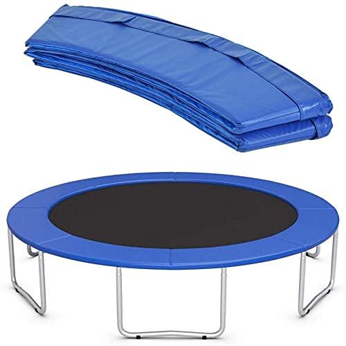 HTDHS 8FT 10FT 12FT 13FT 14FT 15FT 16FT Trampoline Pad DE Seguridad UV Protector Resistente a UV Reemplazo de reemplazo Bounce Marco Accesorios Cubierta de Primavera Redonda Azul (Size : 14FT)