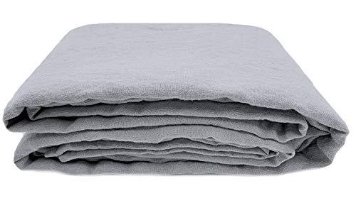 JOWOLLINA 100% Leinen Stonewashed Laken Bettlaken Überwurf (240x260 cm, Ultimate Gray)