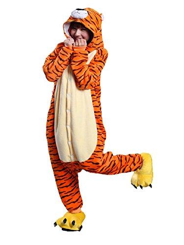 Trajes de Cosplay de Pijamas de Tigre Trajes de Franela de Fiesta Disfraces Unisex