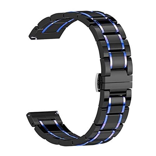 CMYYFA Correa de cerámica para correa de reloj de 44 mm, 40 mm, 42 mm, 38 mm, pulsera de hebilla de mariposa de acero inoxidable, para reloj serie 6, se 5, 4 3, color de la correa: 38 mm y 40 mm