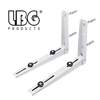LBG Products Wall Mounting Bracket for Ductless Mini Split Air Conditioner Condensing Unit 1-2P, Support up to 265lbs (7000-12000 BTU)