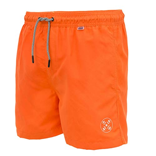 OxbOw M1VALENS Short de Bain Homme, Flame, FR : M (Taille Fabricant : 32)