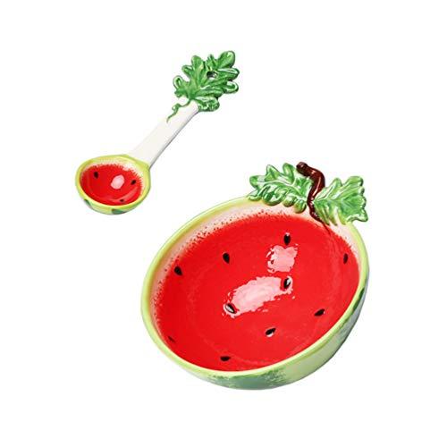 Hemoton Cuenco de Sandía de Cerámica Cuenco de Frutas para Ensaladas Infantiles...