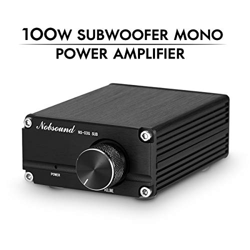 Nobsound 100W Subwoofer Digital Power Amplifier Audio Mini Amp Audio Verstärker with Power Supply (Black)