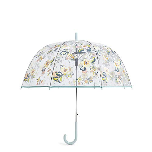 Vera Bradley Auto Open Bubble Umbrella, Floating Garden