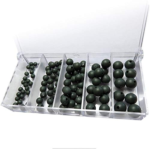 Set: 100 Premium Gummiperlen Sortiert Rubber Beads+ gratis Petri Heil! Aufkleber