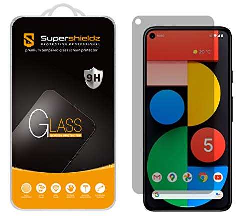 (2 Pack) Supershieldz for Google Pixel 5 (Privacy) Anti Spy Tempered Glass Screen Protector, Anti Scratch, Bubble Free