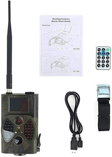UIGJIOG Wildkamera Falle HC300M Jagdkamera GSM MMS 12MP 1080P Fotofallen Nachtsicht Wildlife Infrarot Jagd Trail Kameras Chasse Scout,Natural