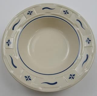 Longaberger Pottery Woven Traditions Heritage Blue - Rim Soup / Cereal Bowl