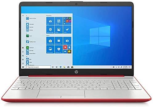 2021 HP 15.6' HD Laptop Computer Intel Dual-Core Pentium 6405U Procesador 4GB RAM 128GB SSD Intel UHD Graphics HD Webcam Bluetooth RJ-45 USB-C HDMI Windows 10 Scarlet Red RE 32GB USB 3.0 Flash Drive