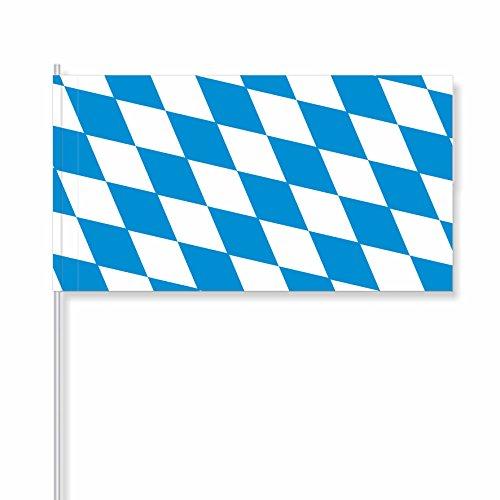 """antrada Papierfähnchen """"Bayern"""" (Rautenform/Bayernraute) (50 Stück)"""