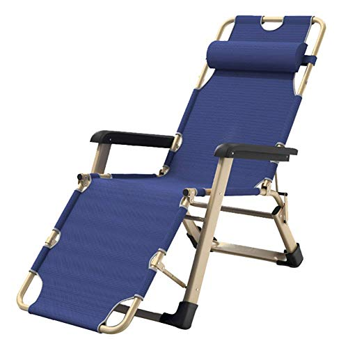 WJXBoos Tumbonas Plegables Silla de Gravedad Cero Azul, Gris   Silla de Ocio   Silla de Jardin   Silla de Playa   Asiento portátil   Ajustable