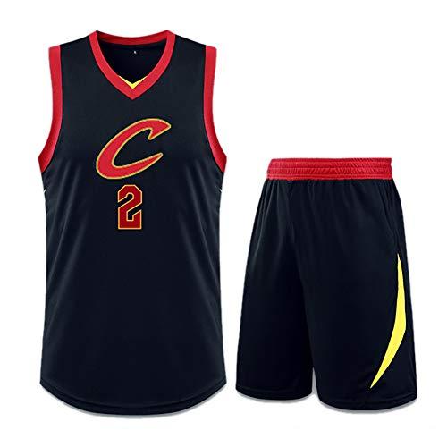 El conjunto de camiseta y pantalón corto de rendimiento de baloncesto de los Cleveland Cavaliers Kyrie Irving 2 de Jersey para hombres se puede usar para limpiar repetidamente las camisetas reales de