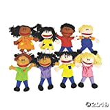 Happy Kids Hand Puppets Multi Ethnic and Diversity Collection (Set of 8) Great for Daycare and Classrooms