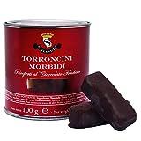 Torroncini Morbidi Artigianali ricoperti di cioccolato fondente 56% in Barattolo - Pasticc...