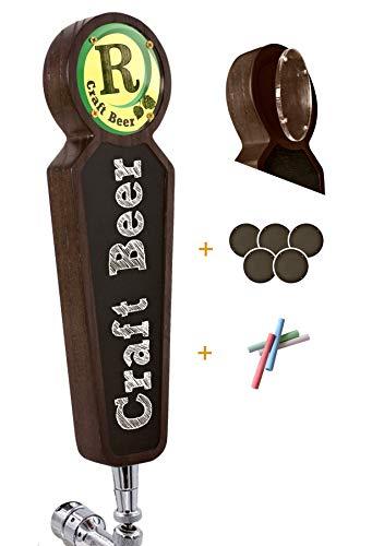 Manijas grandes de madera para grifos de pizarra para kegerator bar restaurante cervecería manualidades manijas para grifos de cerveza para todos los amantes de la cerveza (oscuro)