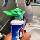 2021 New G-rogu Topper De Pasta De Dientes - Tapas De Pasta De Dientes Con Cierre De Bebé Y-oda Impresas En 3d, Dispensador De Pasta De Dientes Yoda Para Fanáticos De Las Películas
